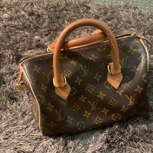 LV genuine leather used handbag